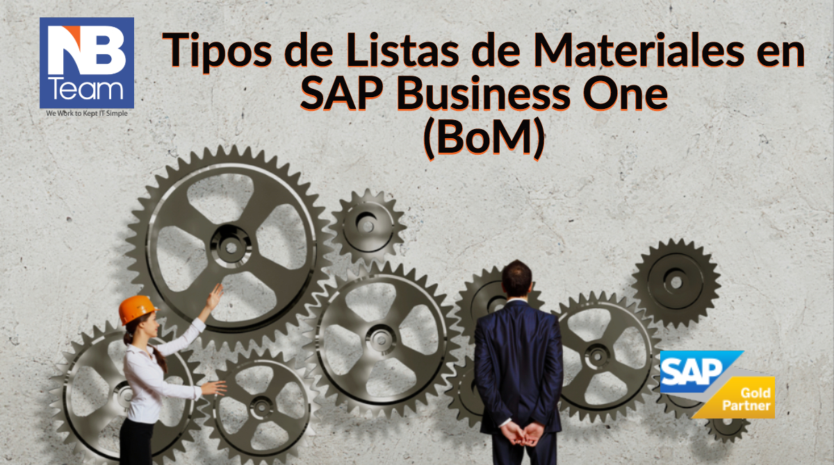 Tipos de listas de materiales en SAP Business One (BoM)
